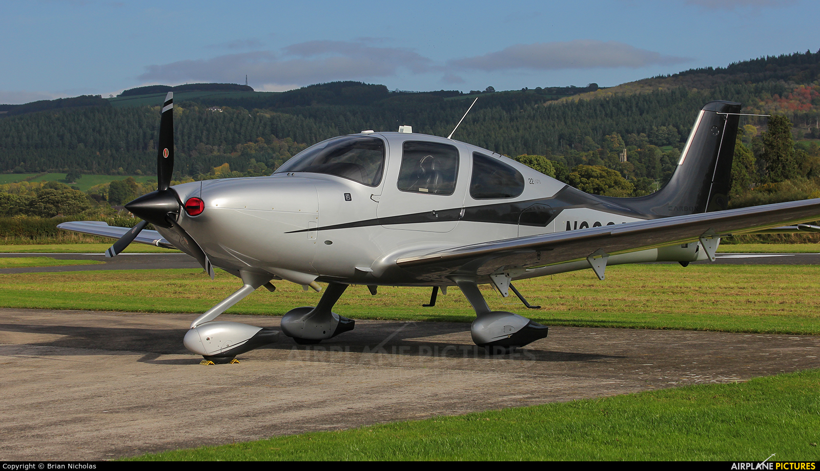 Private N938AC aircraft at Welshpool