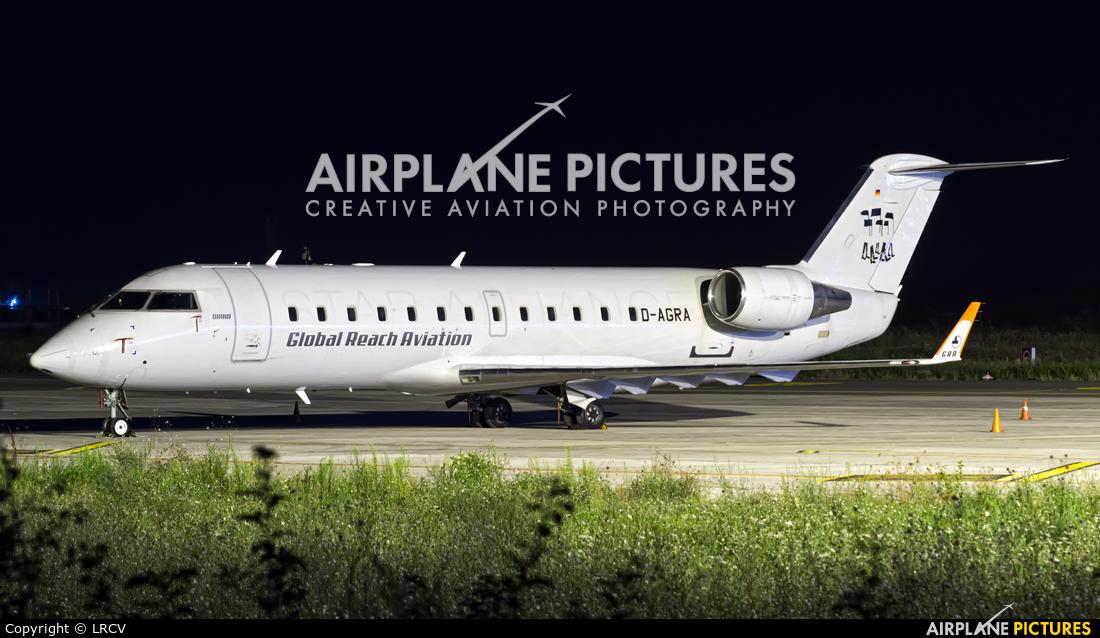 Global Reach Aviation D-AGRA aircraft at Craiova