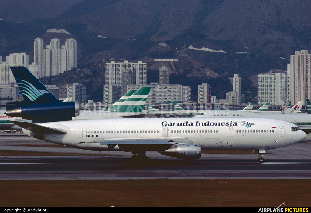 Garuda Indonesia - aircraft at HKG - Kai Tak Intl CLOSED