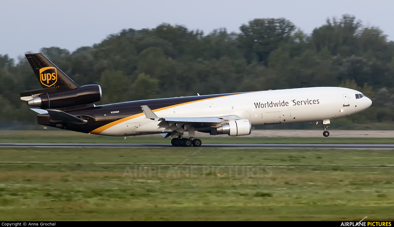 UPS - United Parcel Service N280UP aircraft at Warsaw - Frederic Chopin
