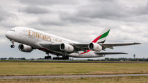A6-EOS - Emirates Airlines Airbus A380 aircraft
