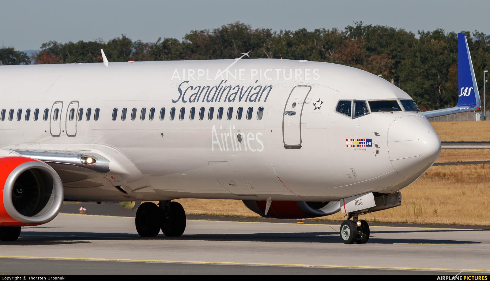 SAS - Scandinavian Airlines LN-RGG aircraft at Frankfurt