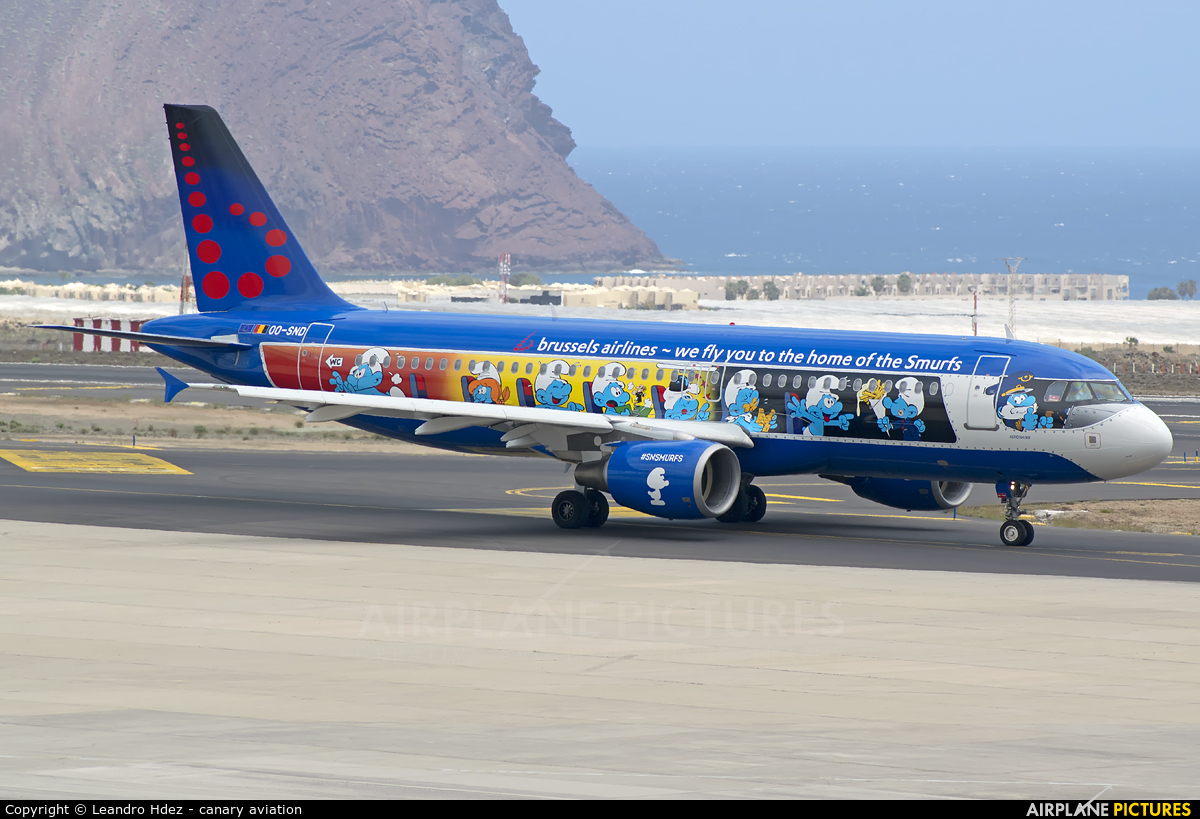 Brussels Airlines OO-SND aircraft at Tenerife Sur - Reina Sofia