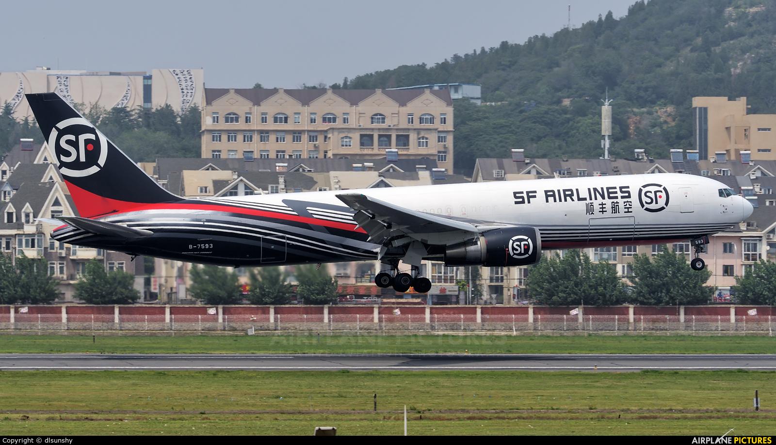 SF Airlines B-7593 aircraft at Dalian Zhoushuizi Int'l