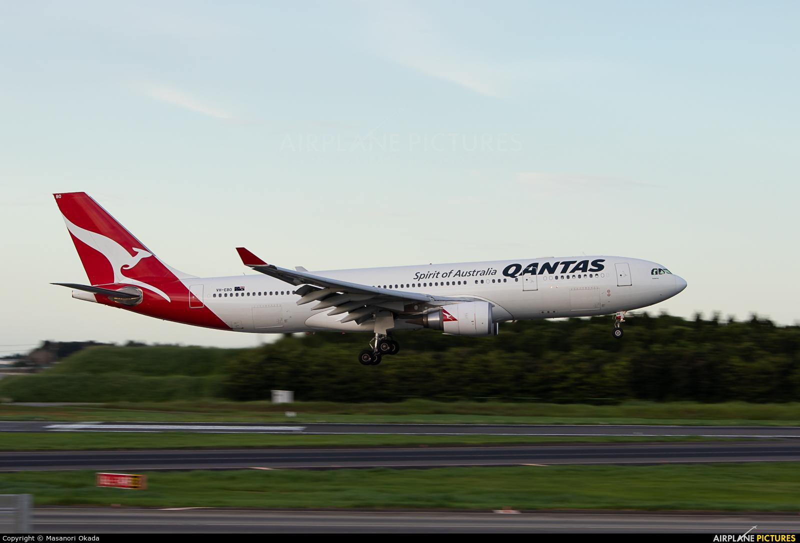 QANTAS VH-EBO aircraft at Tokyo - Narita Intl