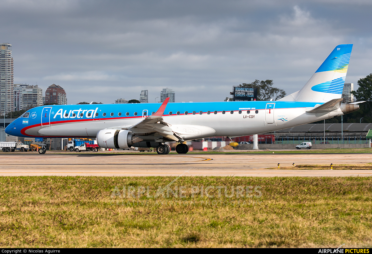 Austral Lineas Aereas LV-CDY aircraft at Buenos Aires - Jorge Newbery