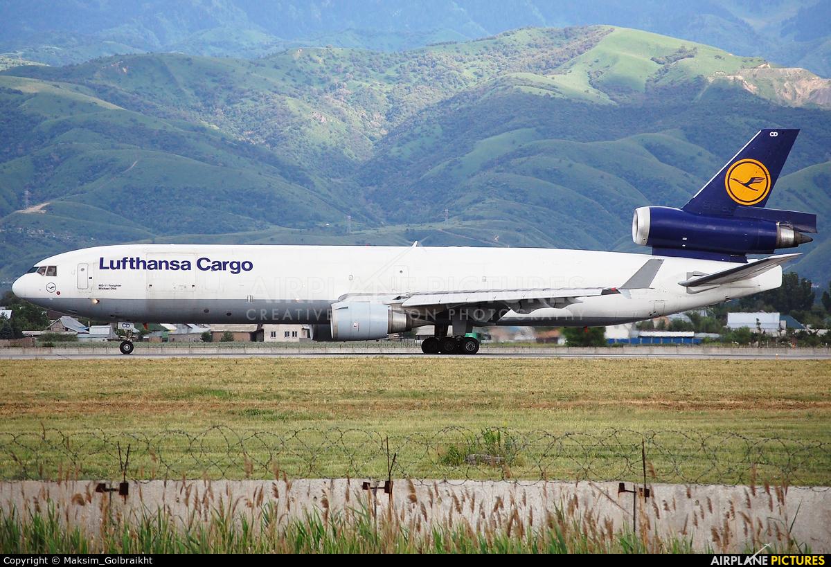 Lufthansa Cargo D-ALCD aircraft at Almaty Intl