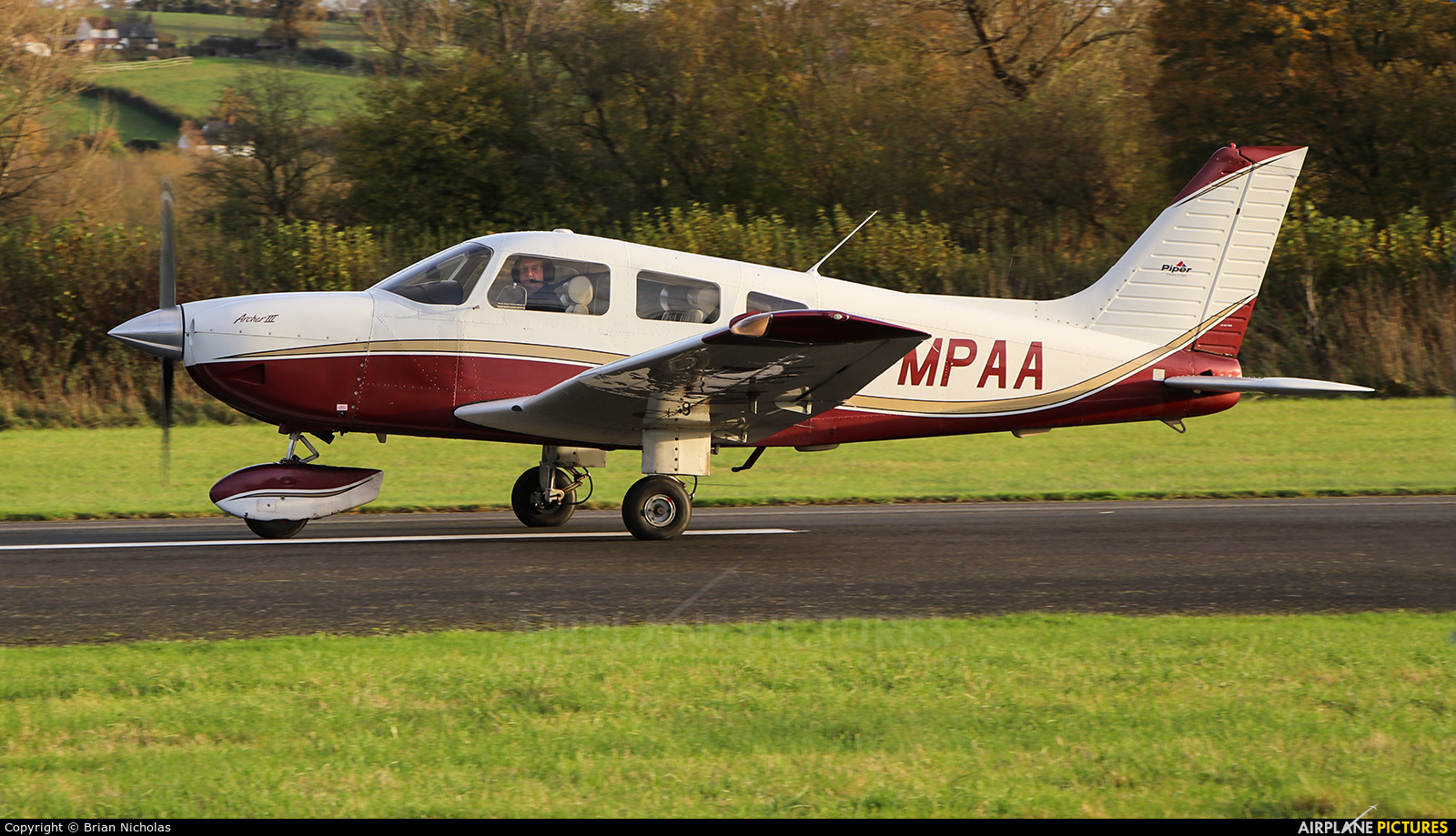Private G-MPAA aircraft at Welshpool