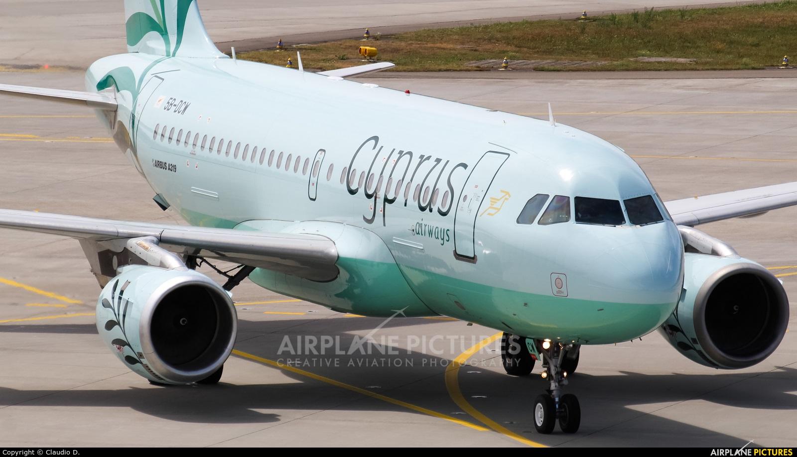 Cyprus Airways 5B-DCW aircraft at Zurich