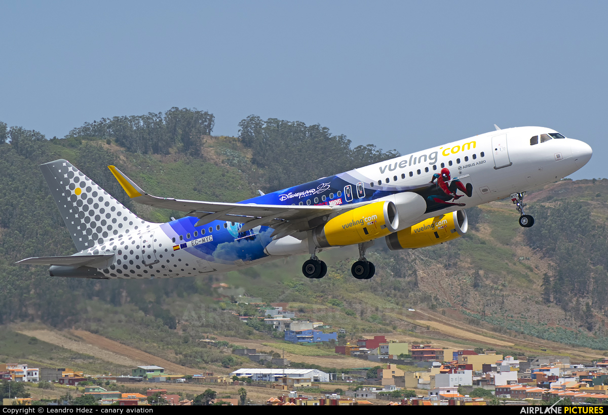 Vueling Airlines EC-MYC aircraft at Tenerife Norte - Los Rodeos