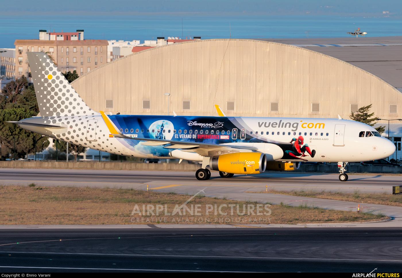 Vueling Airlines EC-MYC aircraft at Lisbon