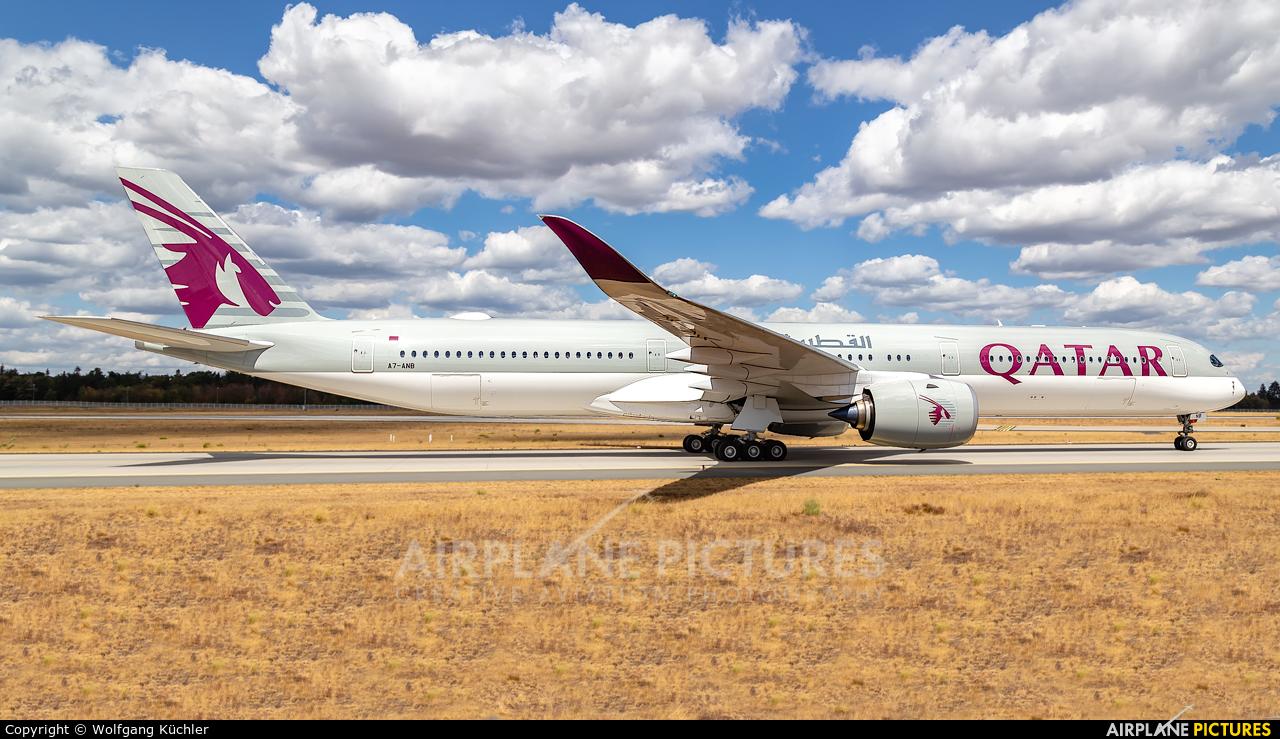 Qatar Airways A7-ANB aircraft at Frankfurt