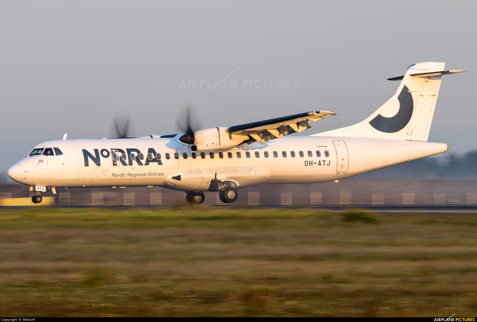 NoRRA - Nordic Regional Airlines OH-ATJ aircraft at Helsinki - Vantaa