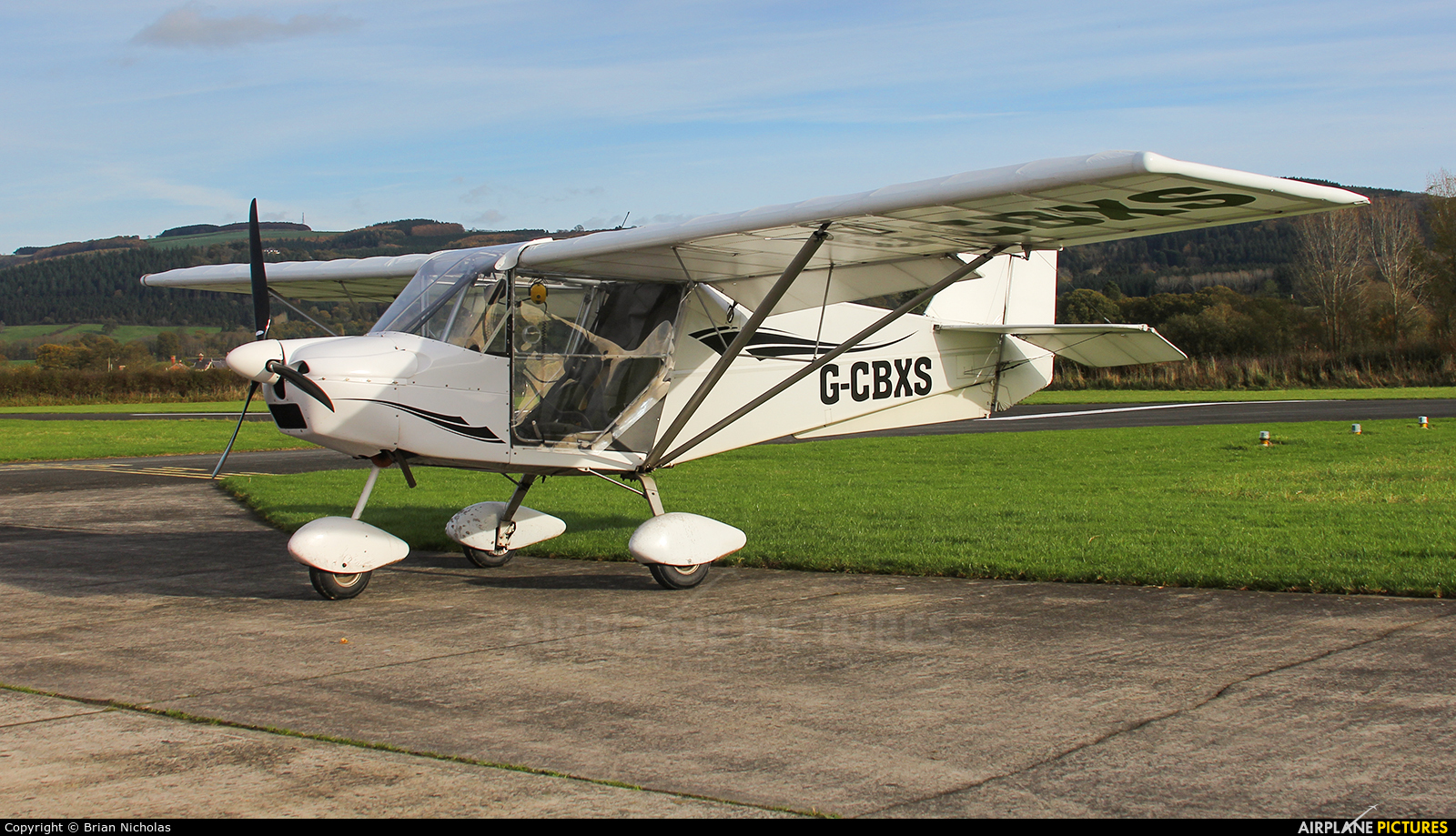 Private G-CBXS aircraft at Welshpool