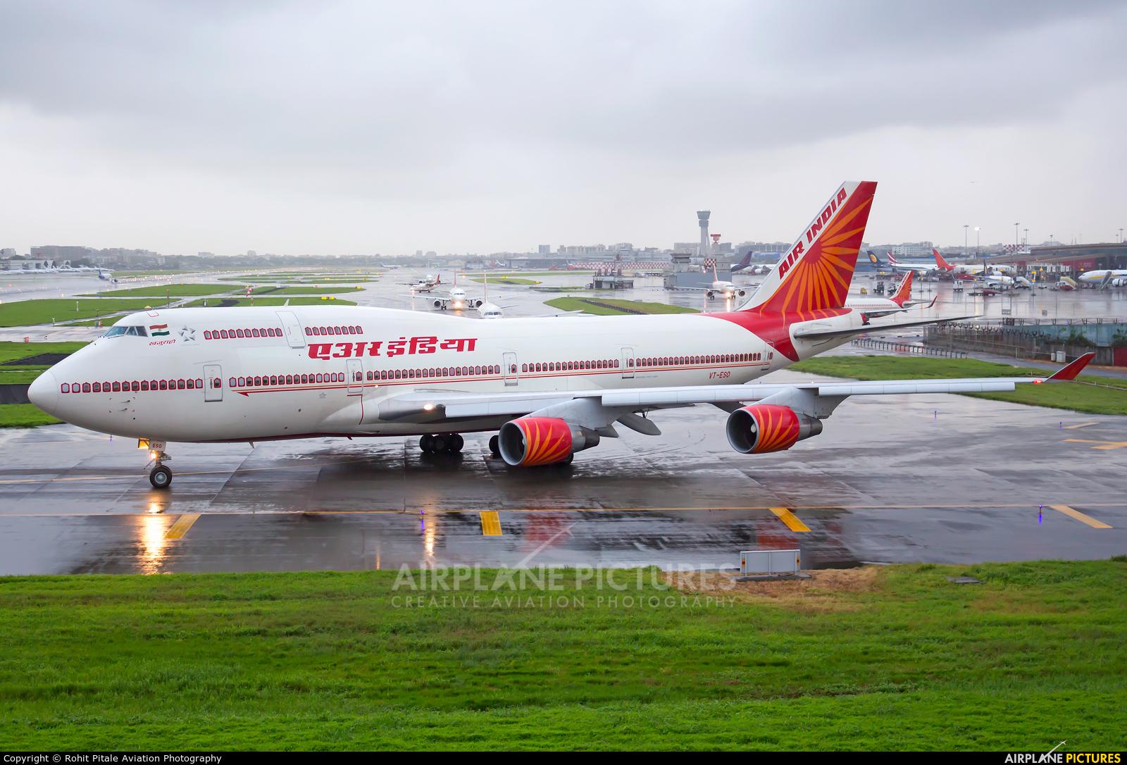 Air India VT-ESO aircraft at Mumbai - Chhatrapati Shivaji Intl