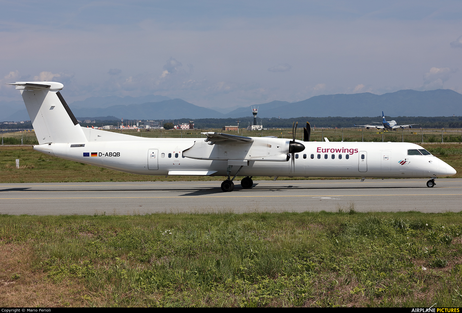 Eurowings D-ABQB aircraft at Milan - Malpensa