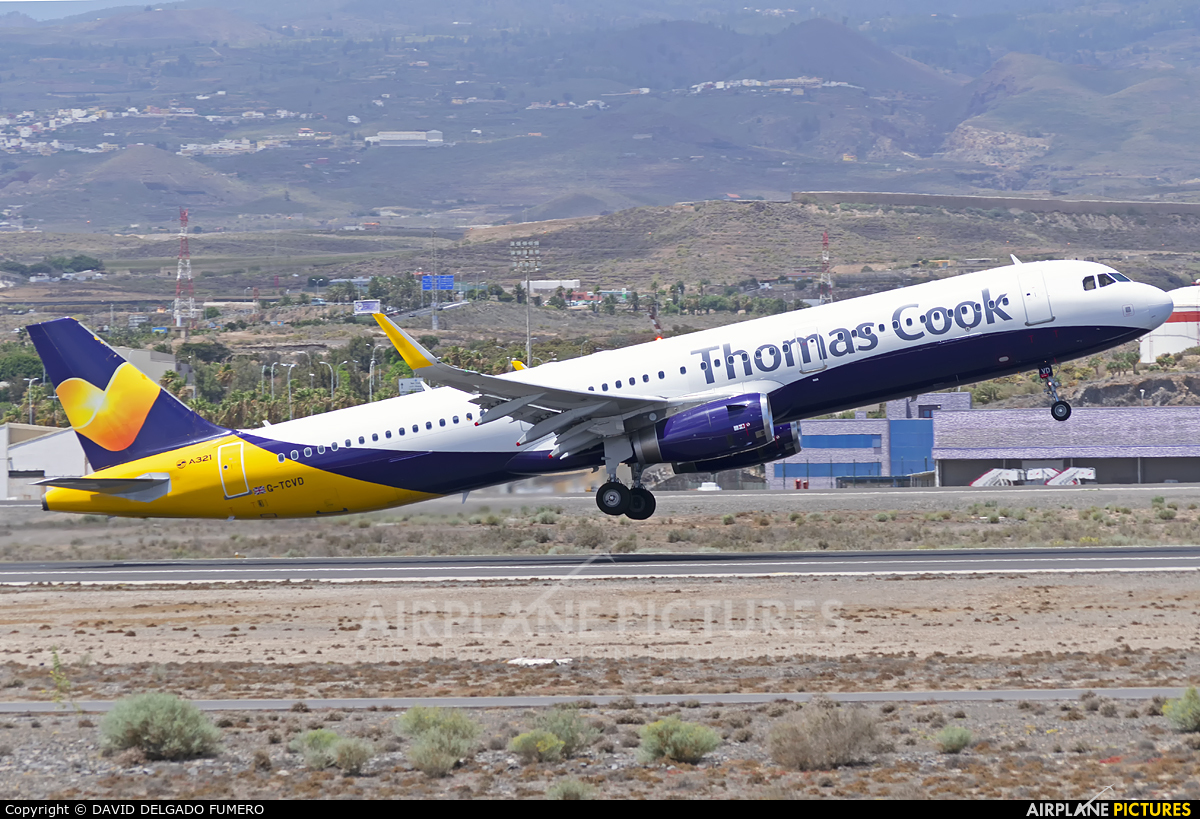 Thomas Cook G-TCVD aircraft at Tenerife Sur - Reina Sofia