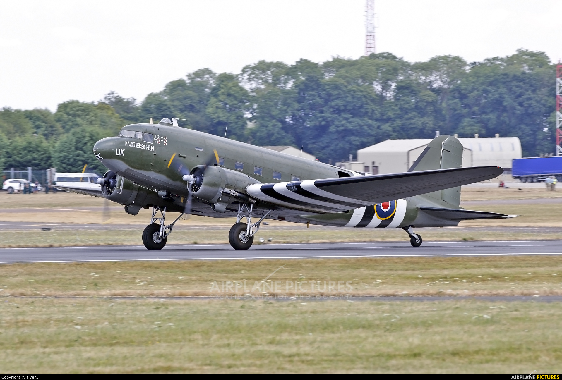 "Royal Air Force ""Battle of Britain Memorial Flight&quot ZA947 aircraft at Fairford"