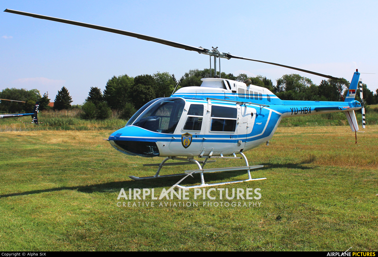 Serbia - Police YU-HBX aircraft at Off Airport - Serbia