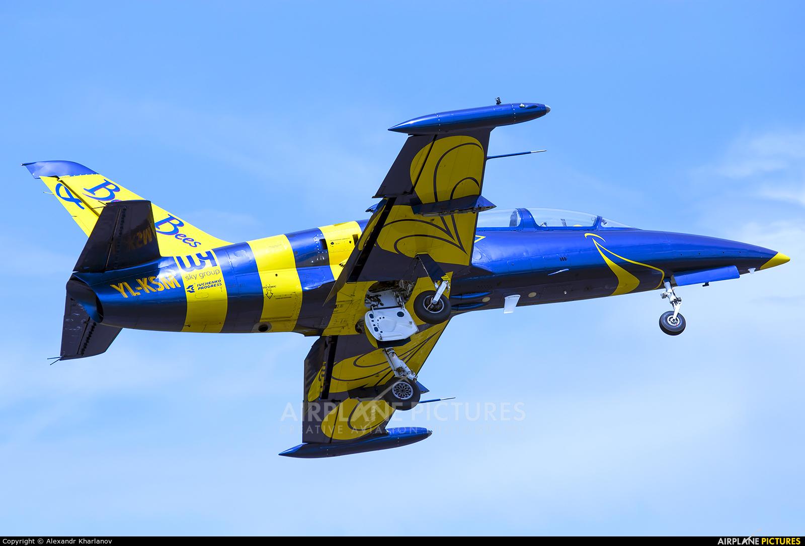 Baltic Bees Jet Team YL-KSM aircraft at Novotitarovskaya-Azimut