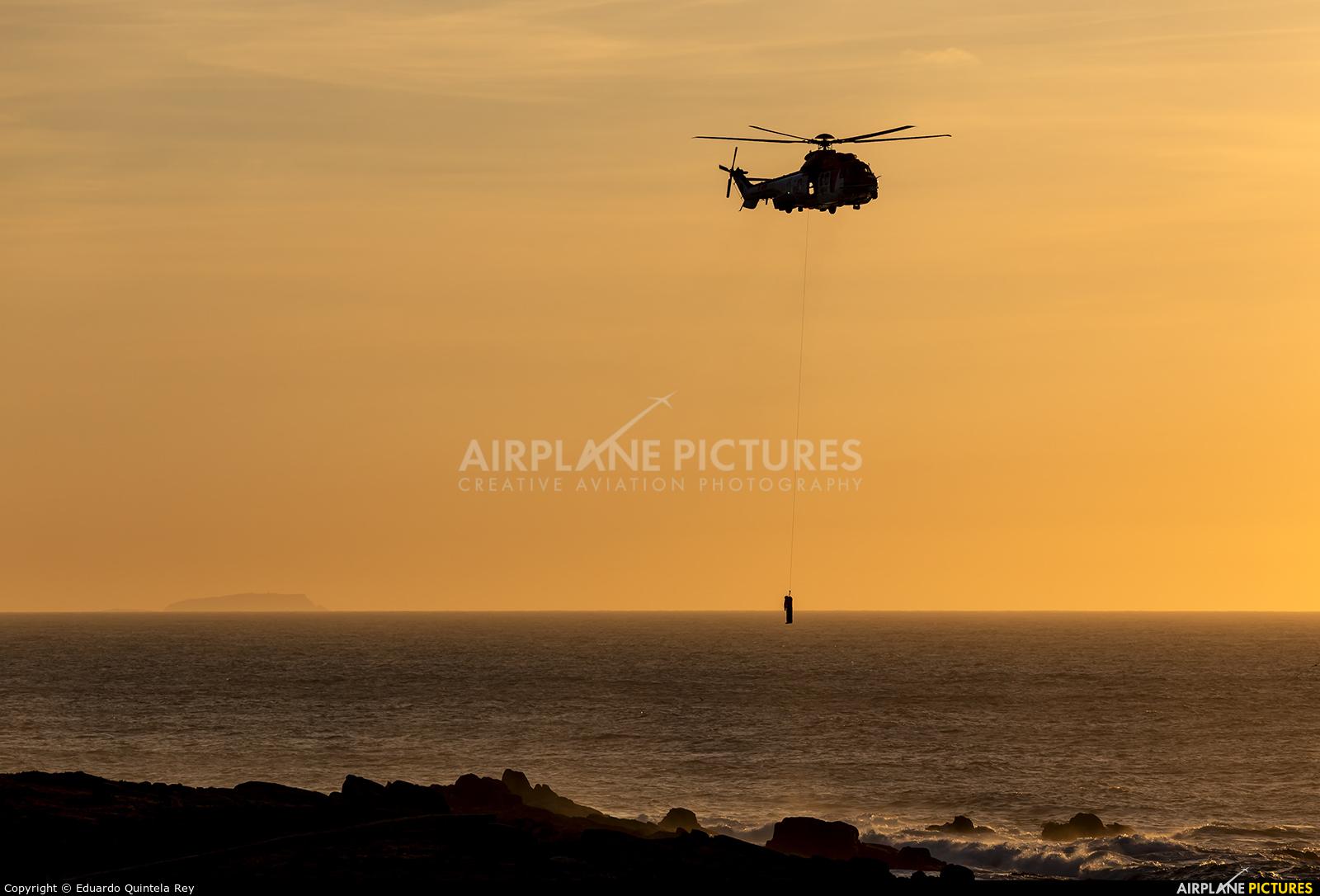 Spain - Coast Guard EC-NAA aircraft at La Coruña - El Portiño