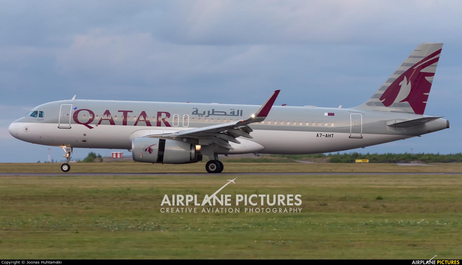 Qatar Airways A7-AHT aircraft at Helsinki - Vantaa