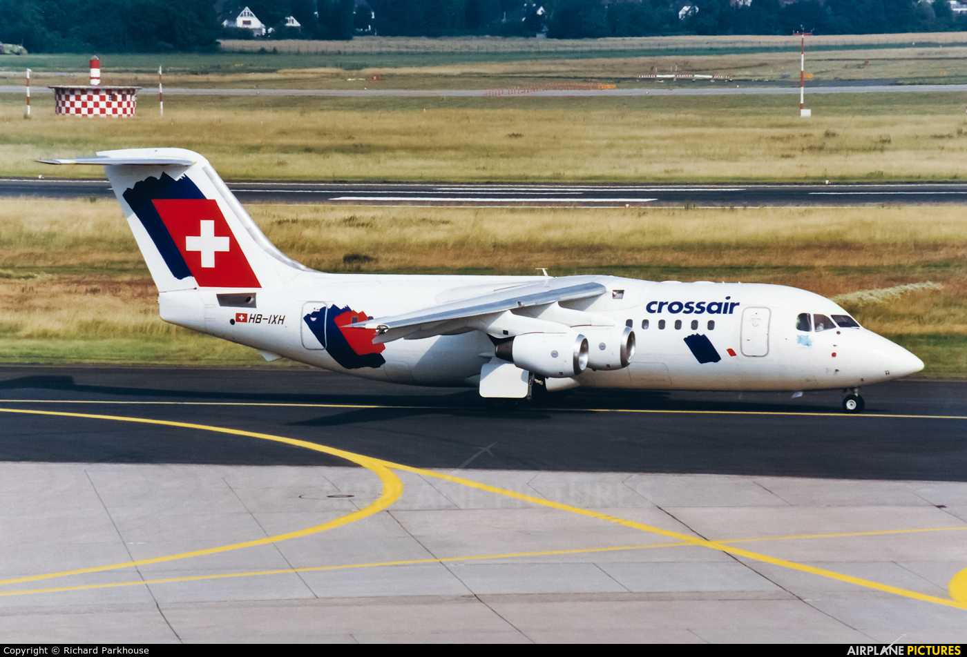 Crossair HB-IXH aircraft at Düsseldorf