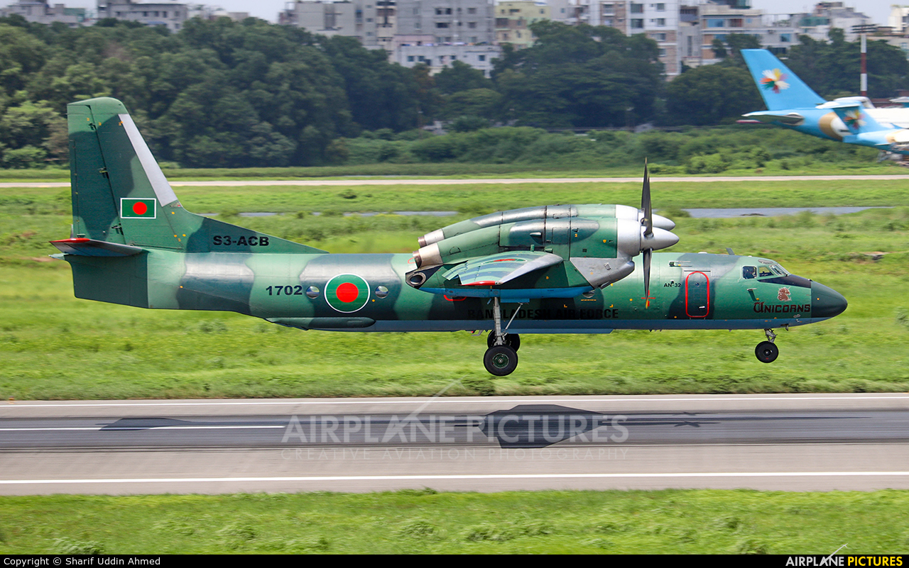Bangladesh - Air Force S3-ACB aircraft at Dhaka - Hazrat Shahjala Intl