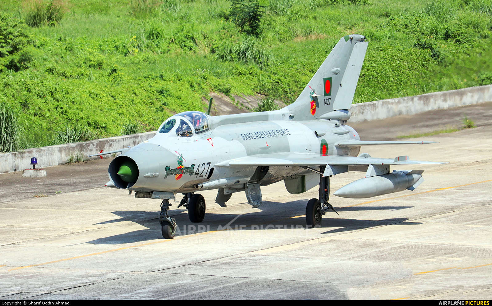 Bangladesh - Air Force 1427 aircraft at Dhaka - Hazrat Shahjala Intl