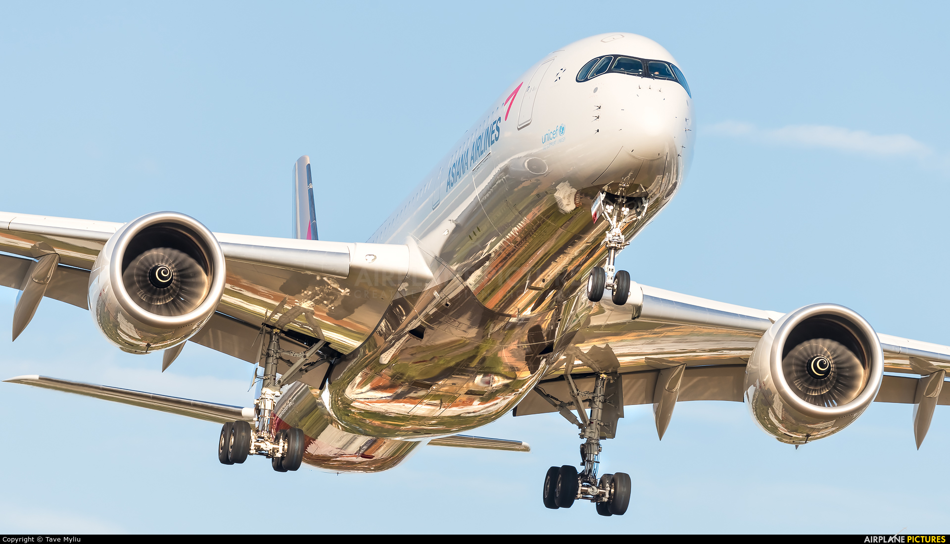 Asiana Airlines HL8308 aircraft at London - Heathrow