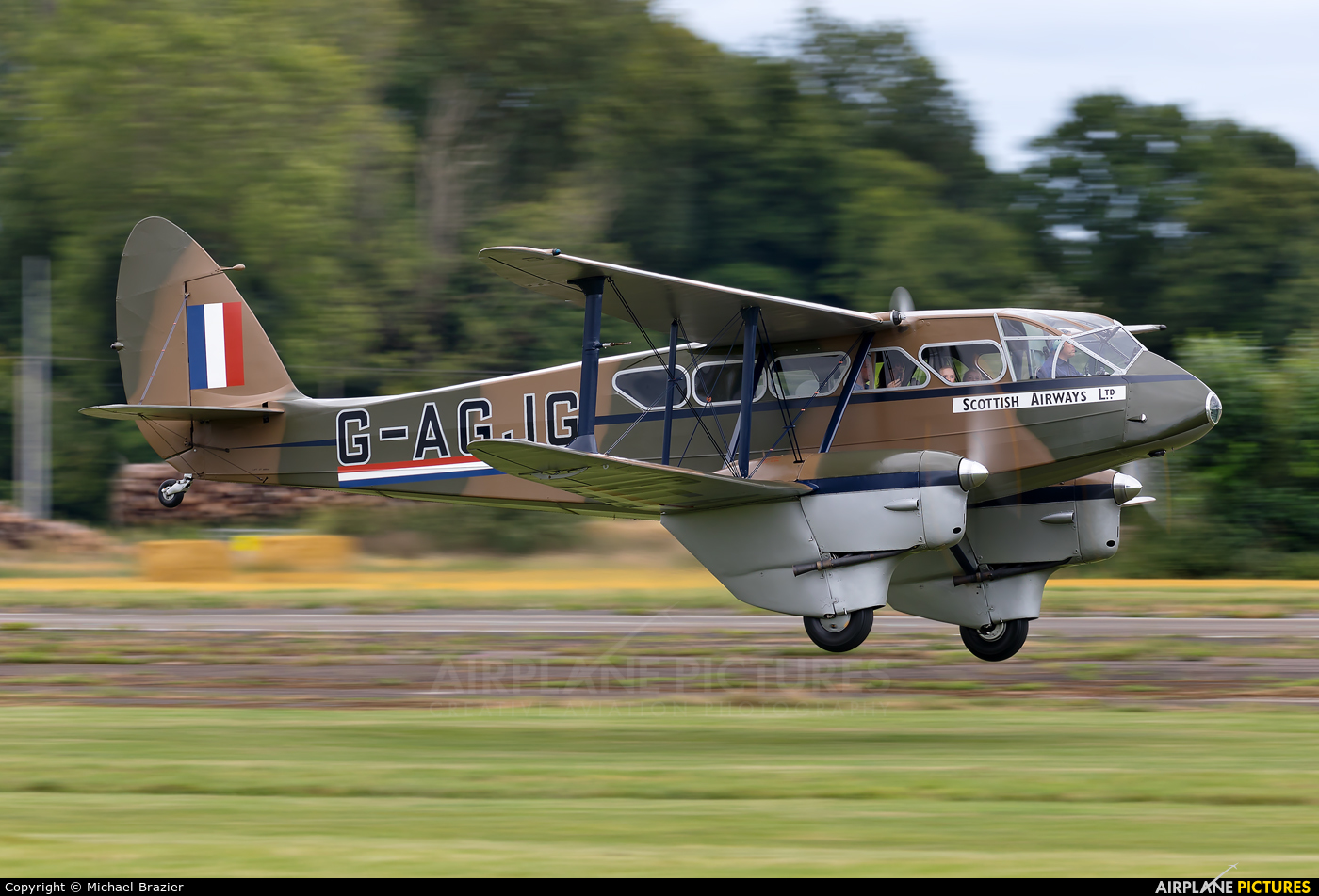 Private G-AGJG aircraft at Shobdon Airfield