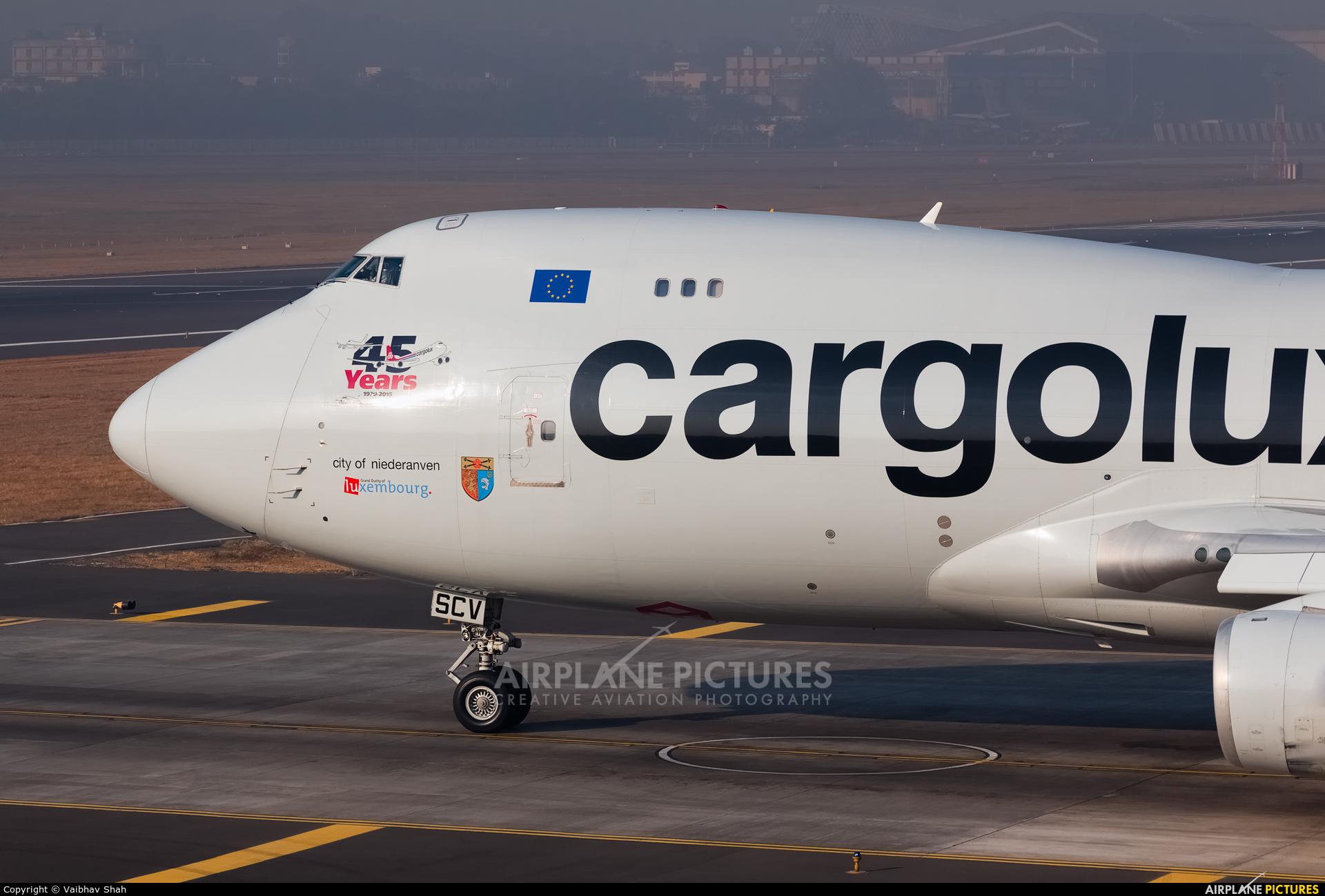 Cargolux LX-SCV aircraft at Mumbai - Chhatrapati Shivaji Intl