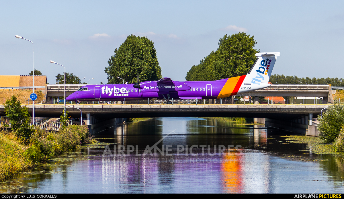 Flybe G-PRPJ aircraft at Amsterdam - Schiphol