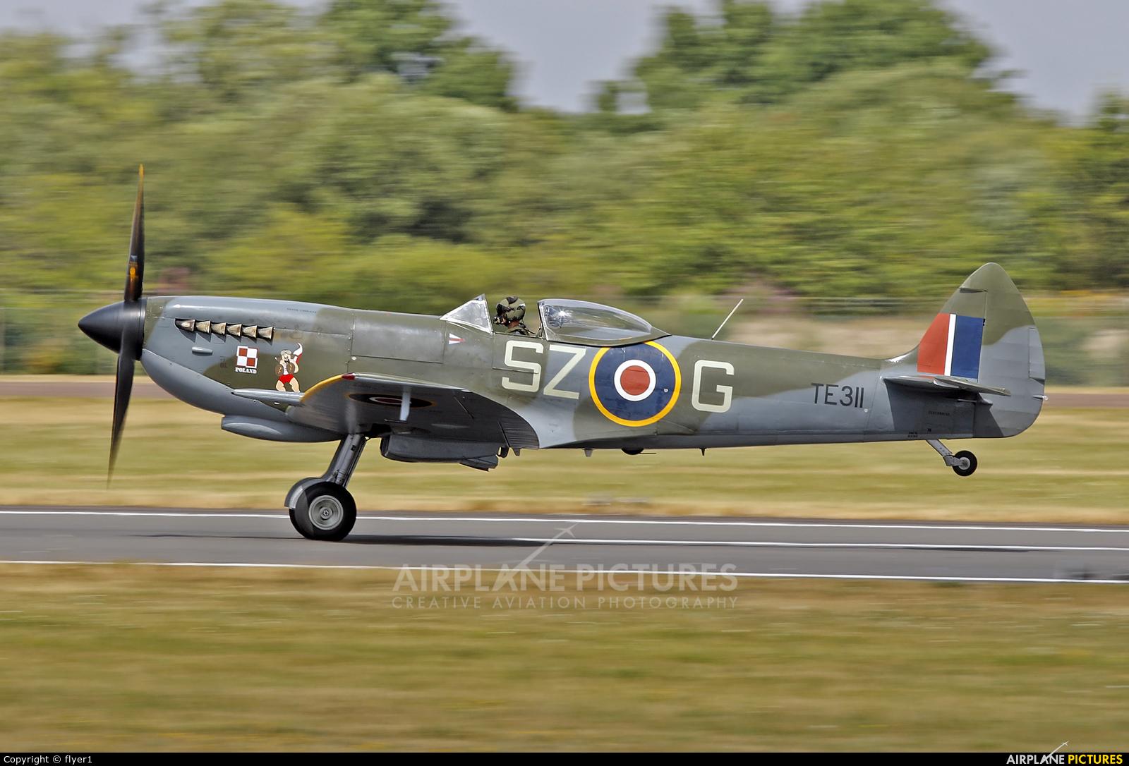 "Royal Air Force ""Battle of Britain Memorial Flight&quot TE311 aircraft at Fairford"