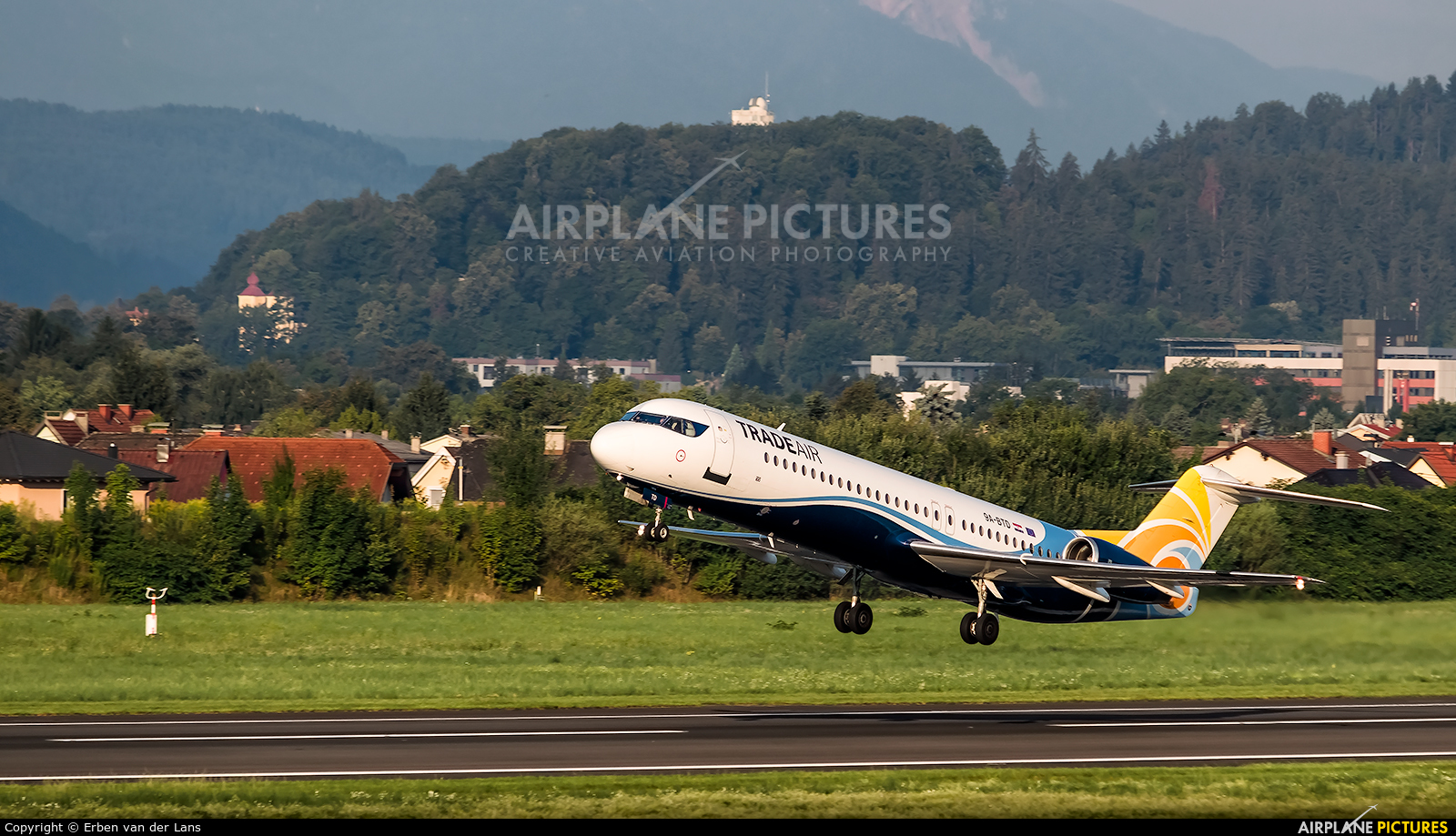 Trade Air 9A-BTD aircraft at Klagenfurt