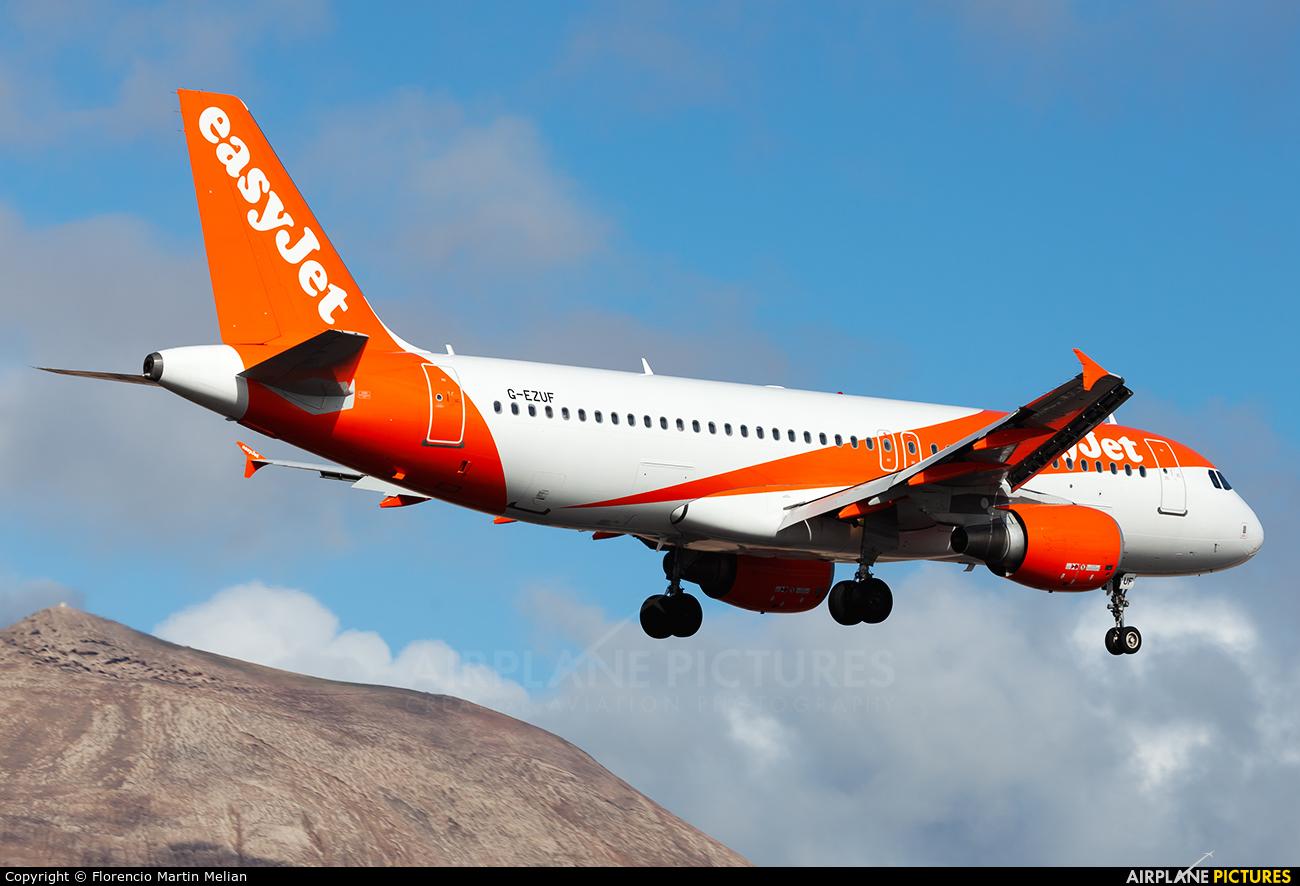 easyJet G-EZUF aircraft at Lanzarote - Arrecife
