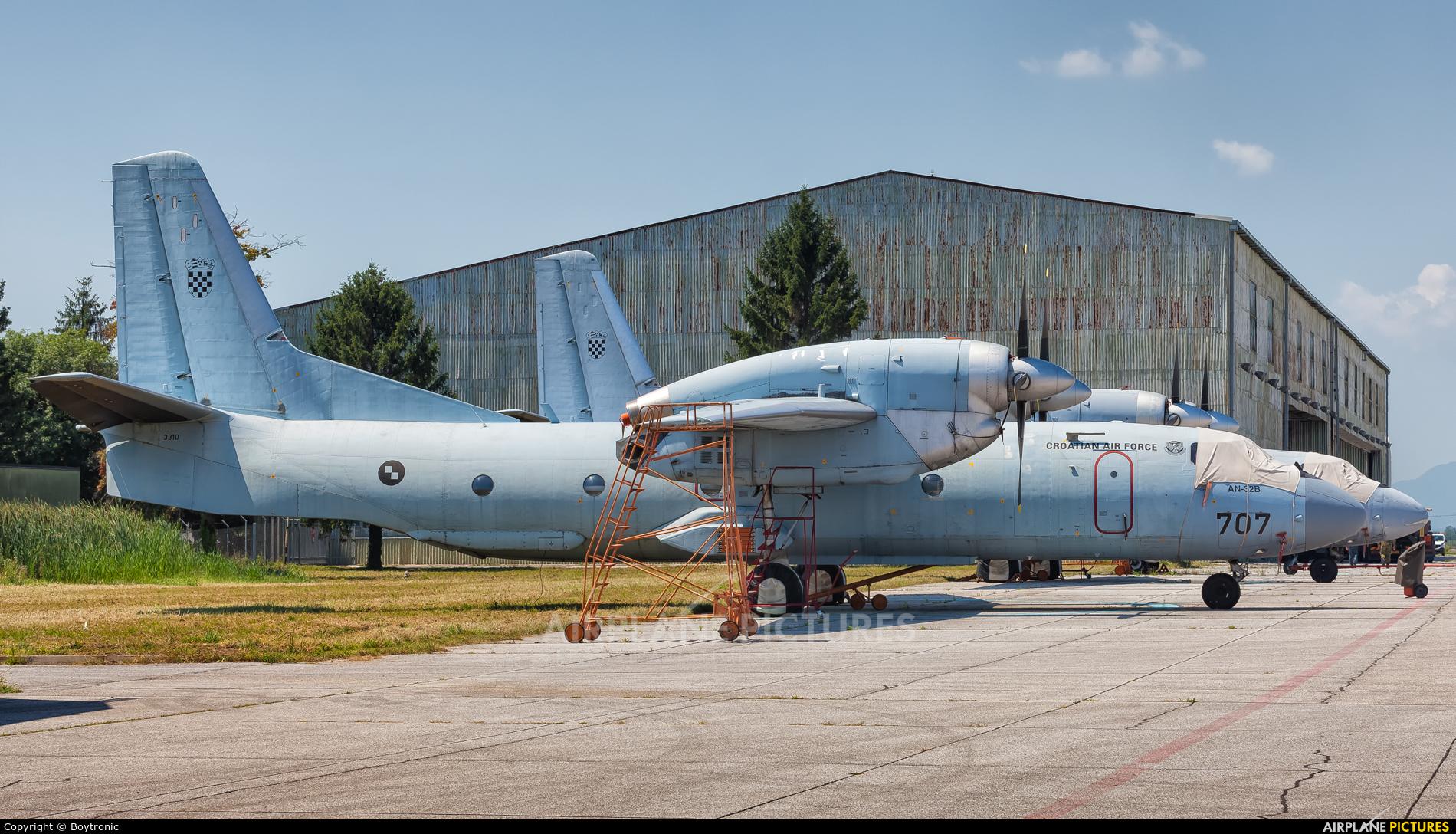 Croatia - Air Force 707 aircraft at Zagreb