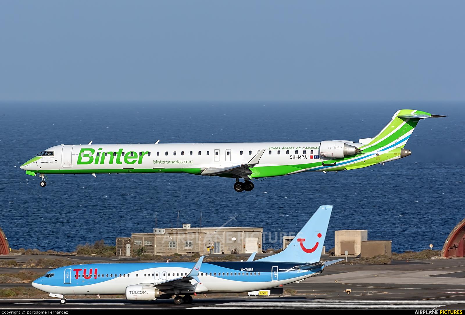 Binter Canarias 9H-MPA aircraft at Aeropuerto de Gran Canaria