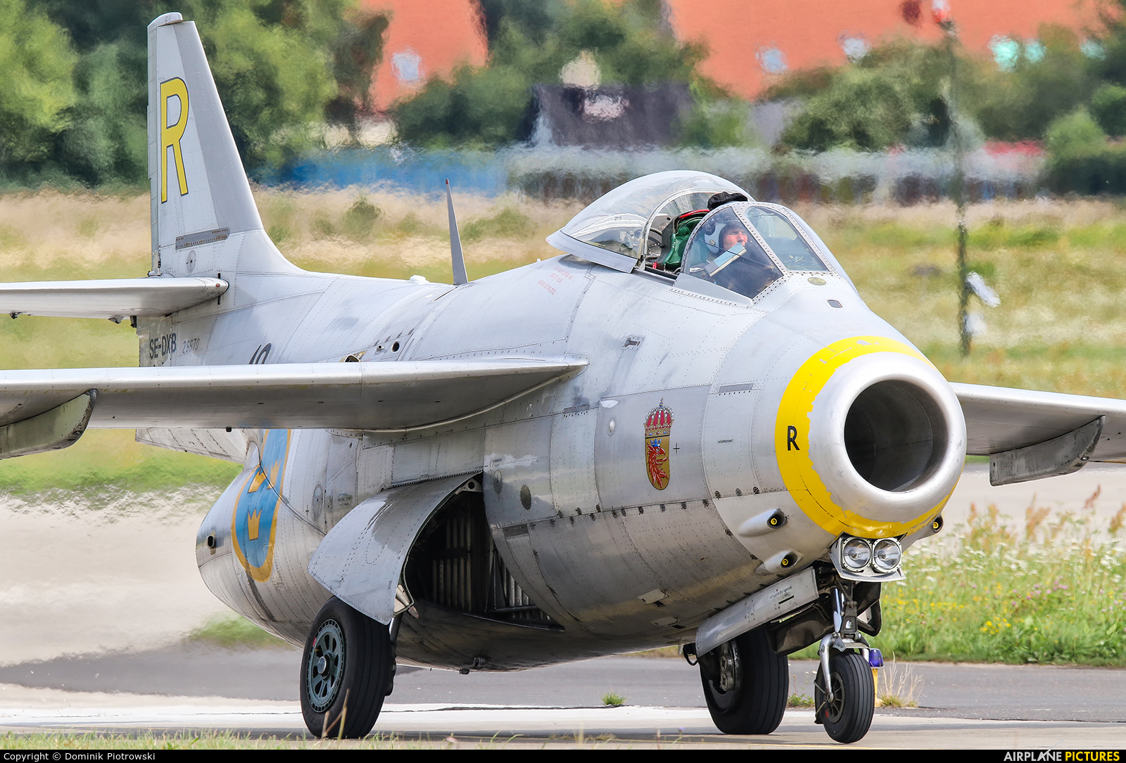 Swedish Air Force Historic Flight SE-DXB aircraft at Gdynia- Babie Doły (Oksywie)