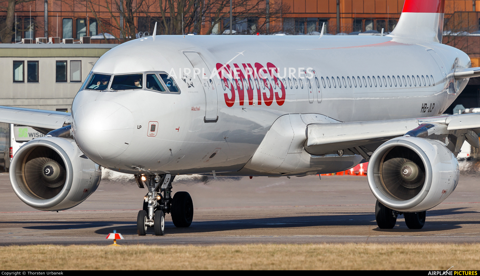 Swiss HB-JLP aircraft at Berlin - Tegel