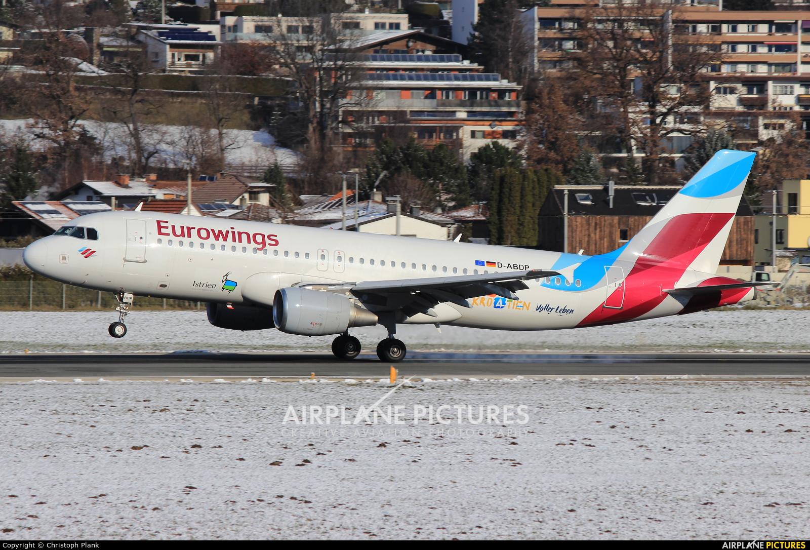 Eurowings D-ABDP aircraft at Innsbruck