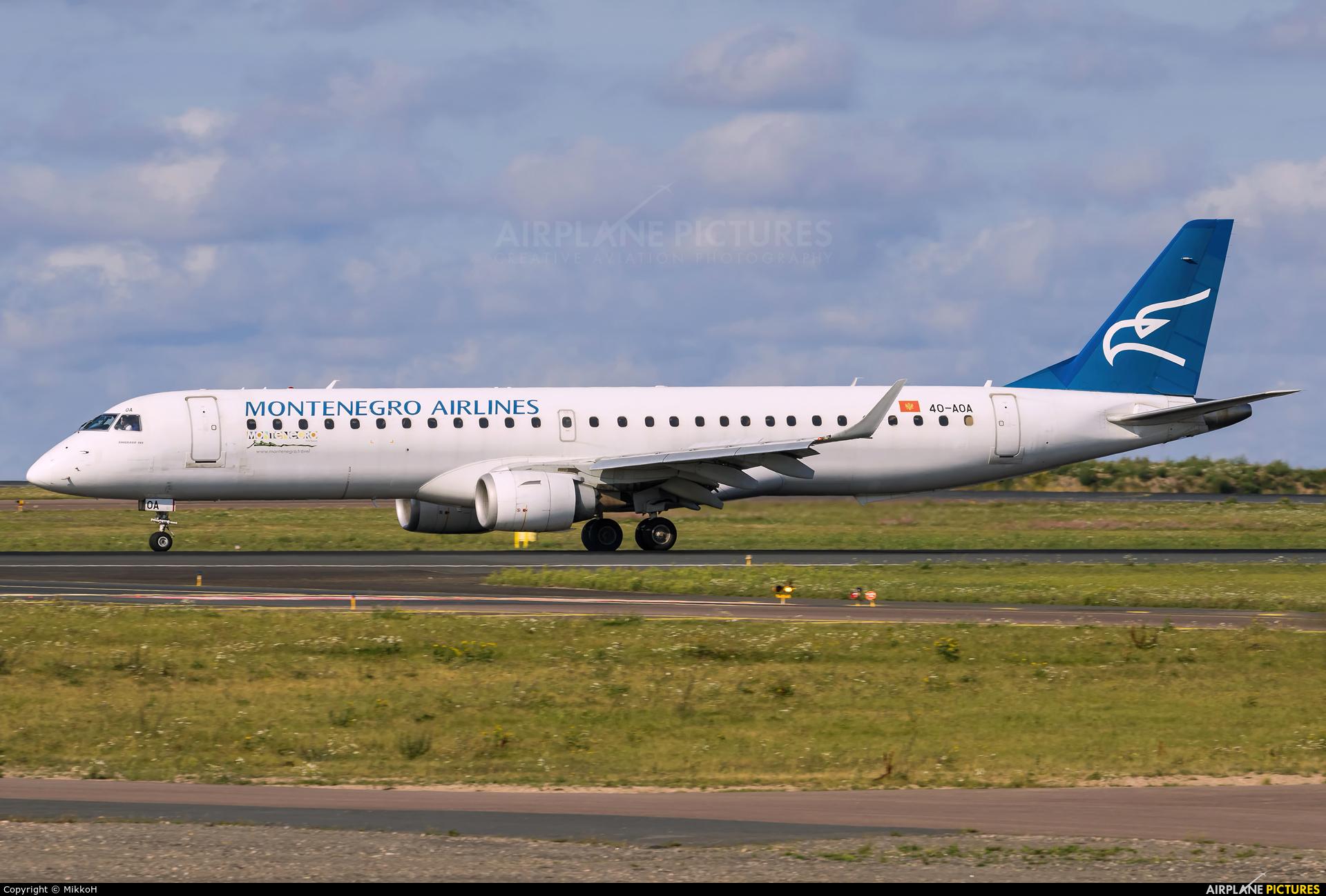 Montenegro Airlines 40-AOA aircraft at Helsinki - Vantaa