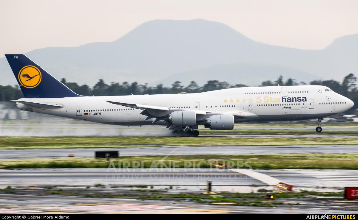 Lufthansa D-ABYM aircraft at Mexico City - Licenciado Benito Juarez Intl