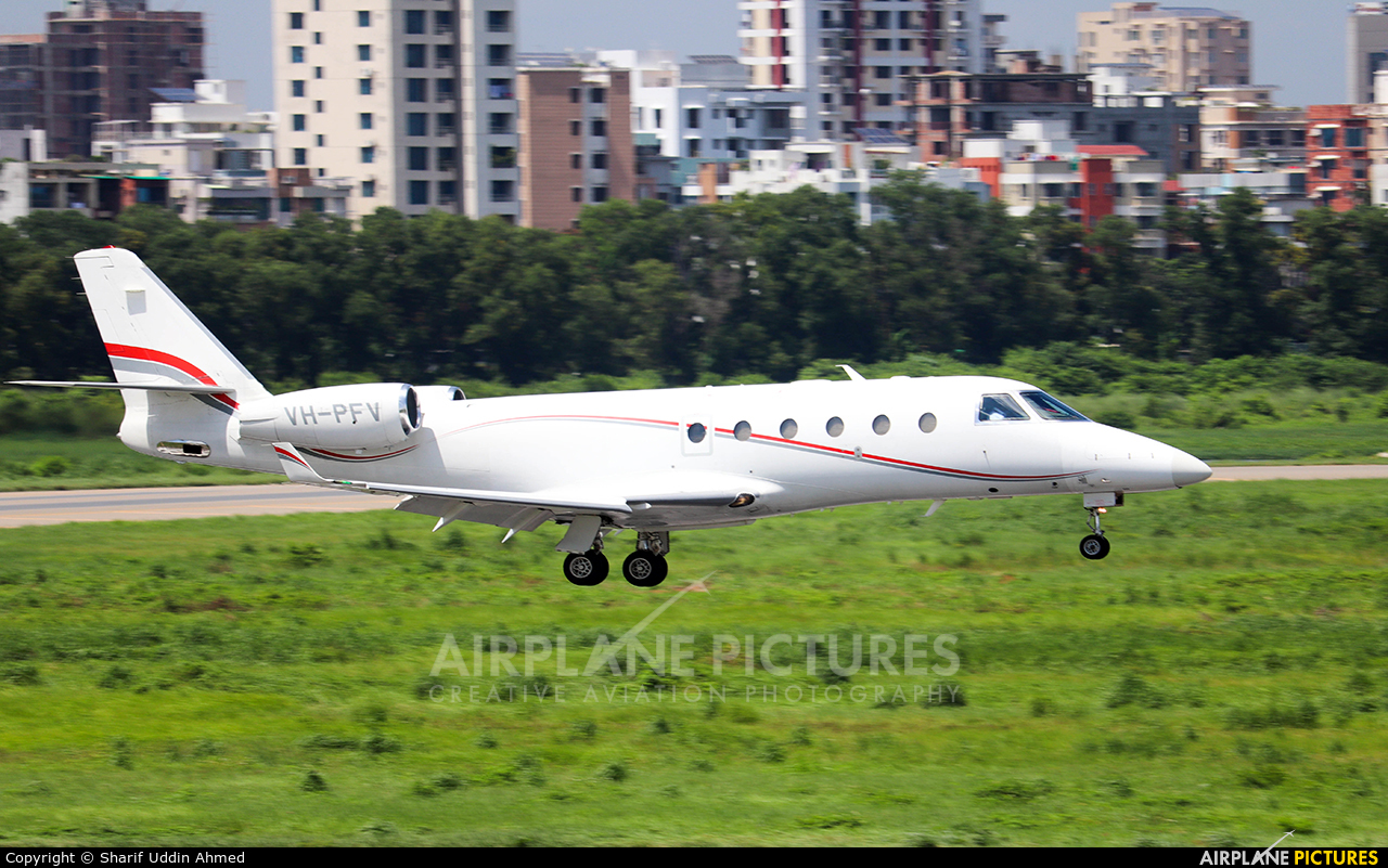 Private VH-PFV aircraft at Dhaka - Hazrat Shahjala Intl