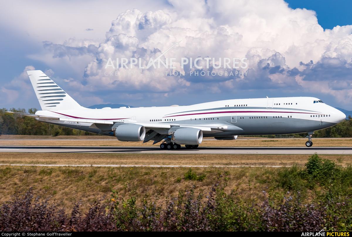 Qatar Amiri Flight A7-HBJ aircraft at Basel - Mulhouse- Euro