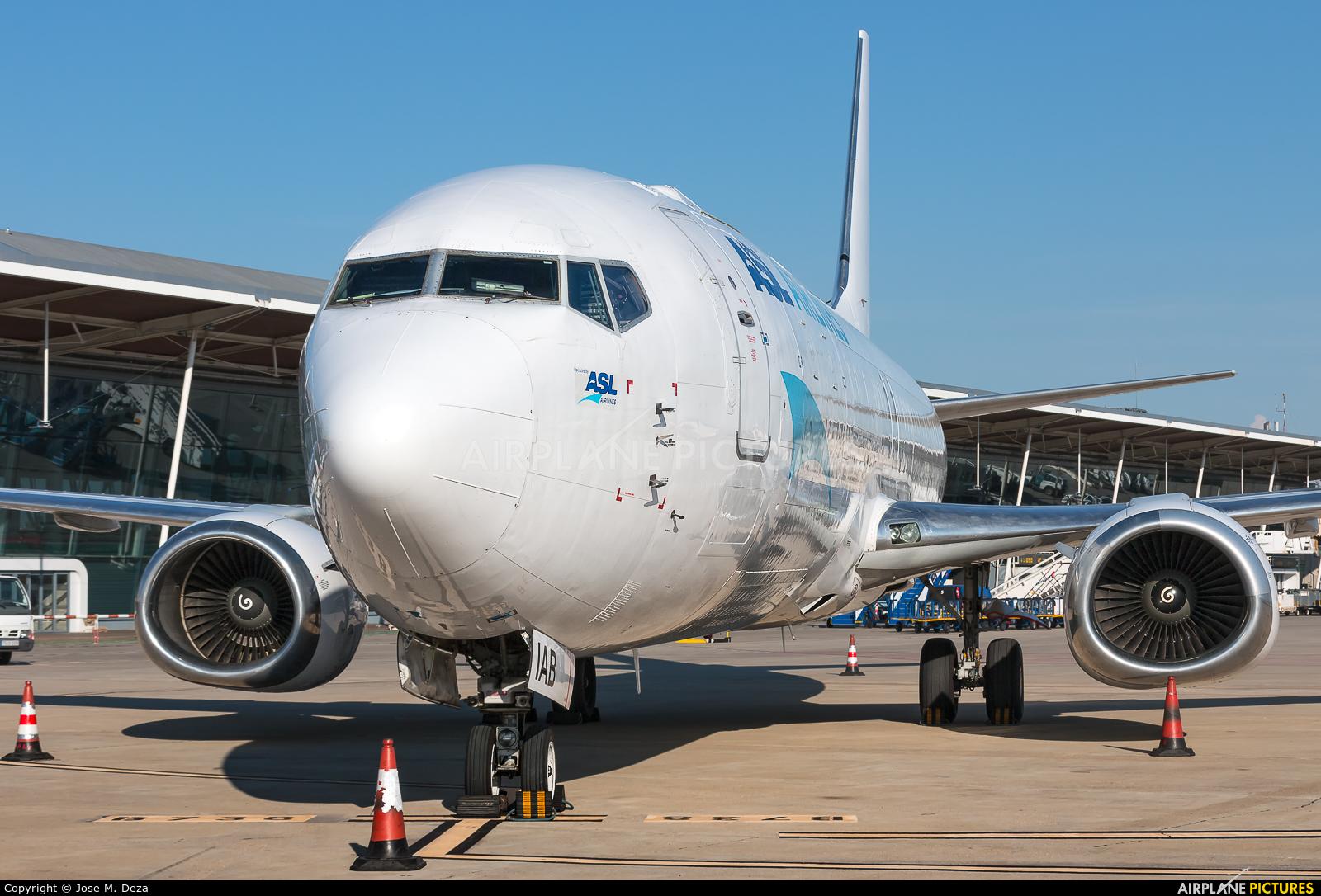 ASL Airlines OE-IAB aircraft at Zaragoza