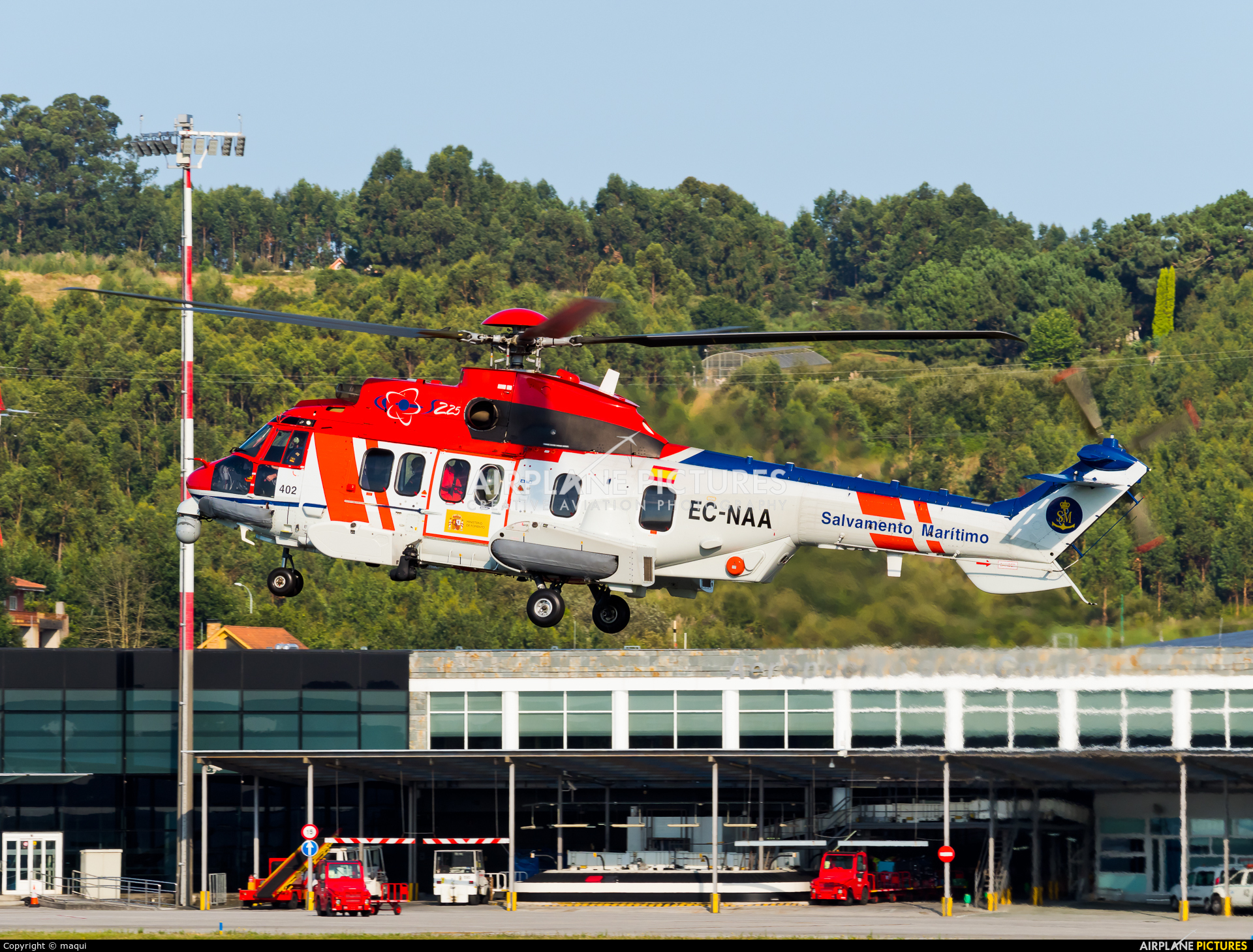 Spain - Coast Guard EC-NAA aircraft at La Coruña