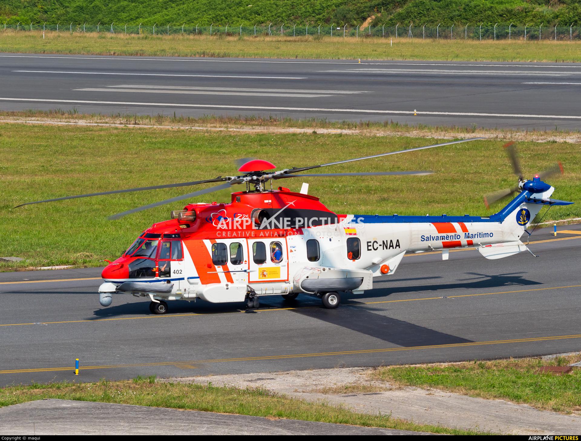 Spain - Coast Guard EC-NAA aircraft at La Coruña
