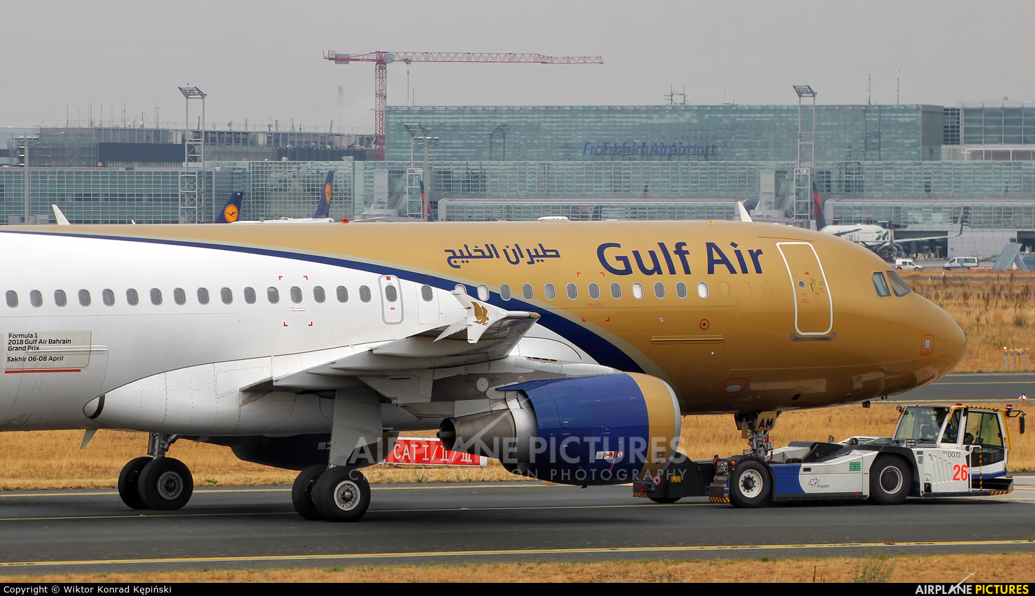 Gulf Air A9C-AM aircraft at Frankfurt