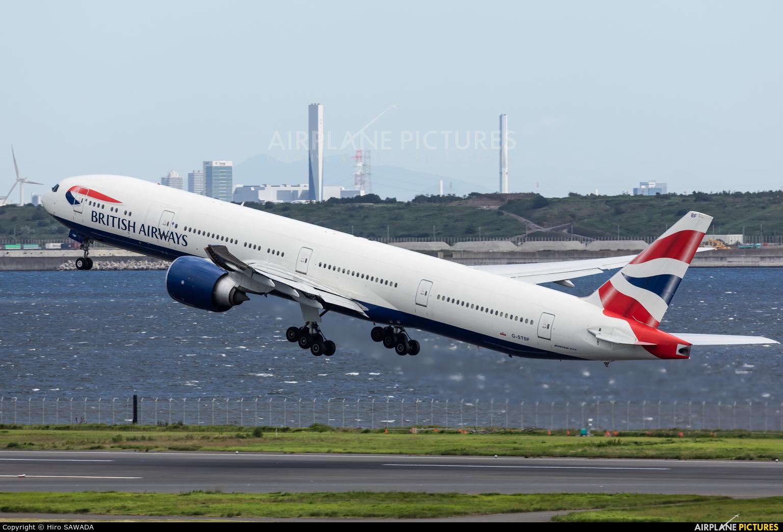 British Airways G-STBF aircraft at Tokyo - Haneda Intl